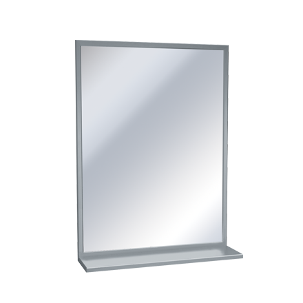 Stainless Steel Chan-Lok Frame – Plate Glass Mirrors with Shelf ...