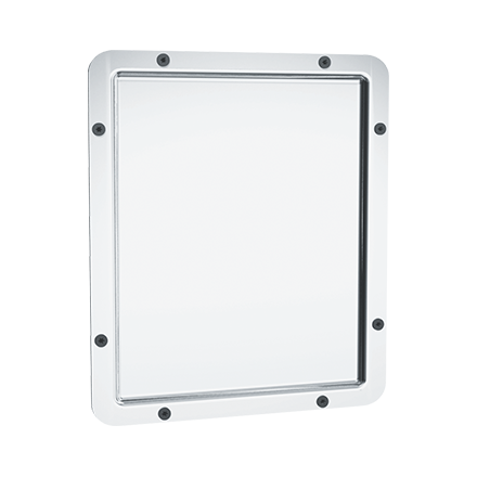 104 14 Framed Mirror 20 Ga 8 Polished Stainless Steel