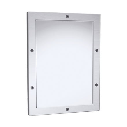Framed Mirror – 20 Ga. #8 Mirror Polished Stainless Steel, Front ...