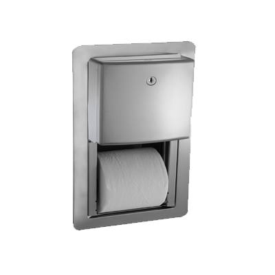 Roval™ Twin Hide-A-Roll Toilet Tissue Dispenser - Semi-Recessed