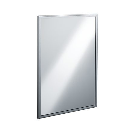 ROVAL™ Inter-Lok Stainless Steel Framed Mirrors – Tempered Glass ...