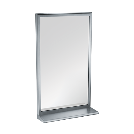 ROVAL™ Inter-Lok Stainless Steel Framed Mirrors – Plate Glass – With ...