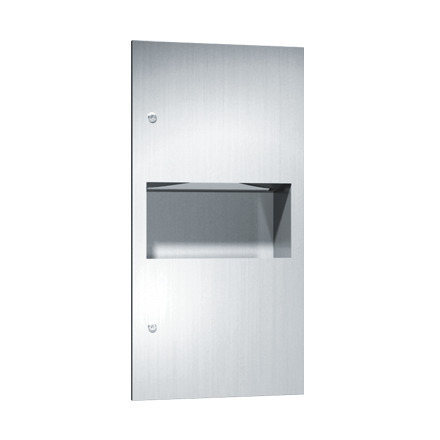 646923 ASI Recessed Roll Paper Towel Dispenser and Waste Receptacle
