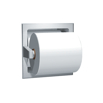 7403b spare roll toilet tissue holder u2013 recessed bright finish