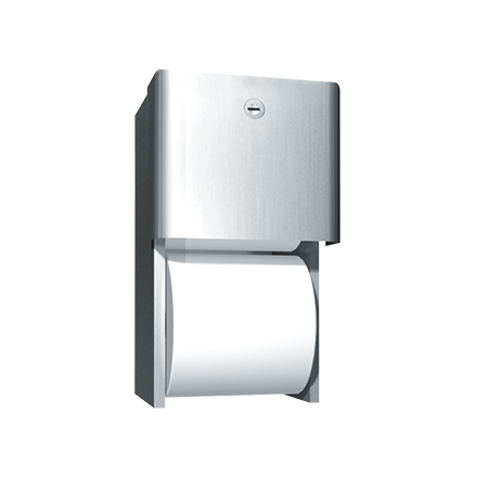 9030 Profile Collection Toilet Tissue Dispenser Twin Roll Surface Mounted