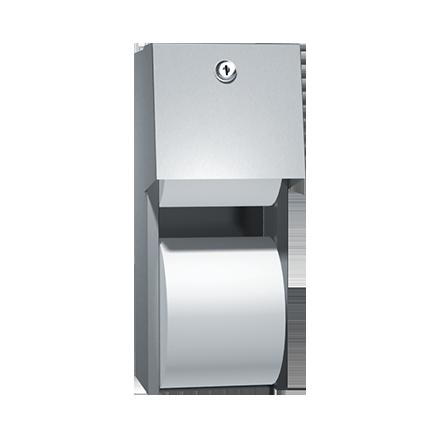 Twin Toilet Roll Dispenser Wall Mounted Plastic Toilet Roll Holder Lockable Key