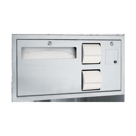 ADA-Compliant Toilet Tissue & Seat Cover Dispenser W ...