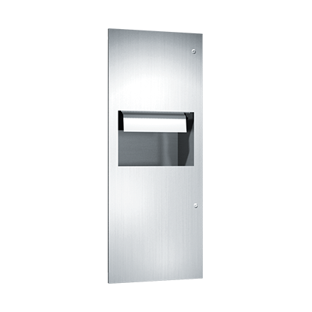 64696A ASI Automatic Roll Paper Towel Dispenser And Waste Receptacle