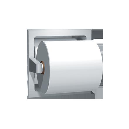 Spare Roll Toilet Tissue Holder Recessed Satin Finish